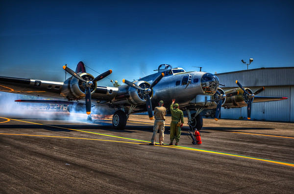 B-17 Bomber at the Hayward Airshow 2013.