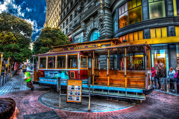 San Francisco Cable Car at Market Street turn-around.